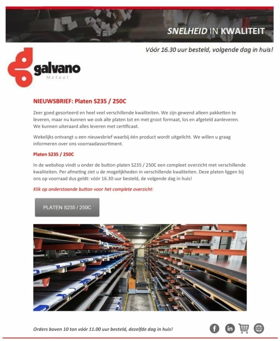 Nieuwsbrief Platen S235 250 C