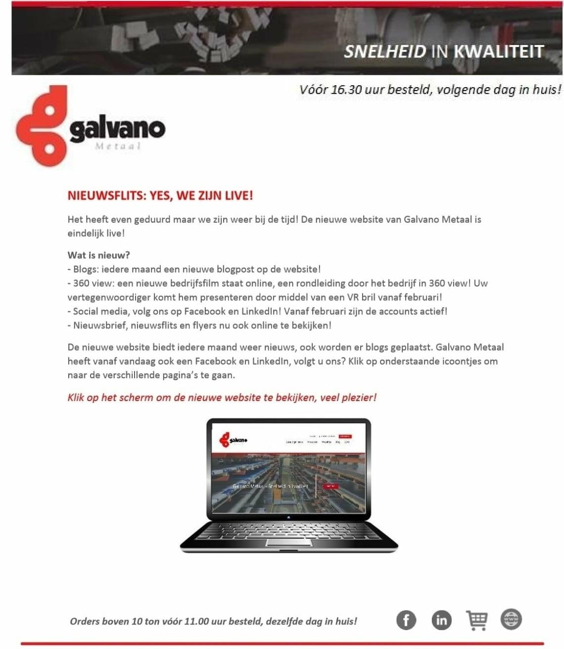 Nieuwsflits Nieuwe Website